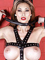 Tera Patrick strapped up in leather